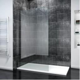 Стеклянные перегородки для душа в современной ванной